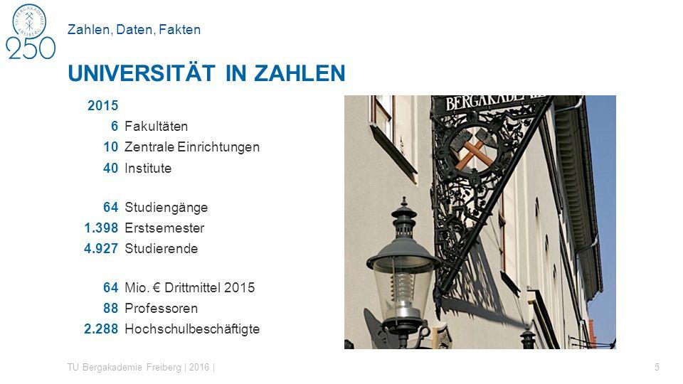Studium Optionen des zweistufigen Studienabschlusssystems TU Bergakademie Freiberg | 2016 | 26 DREI WEGE ZUM ZIEL Bachelor 6 - 7 Sem.