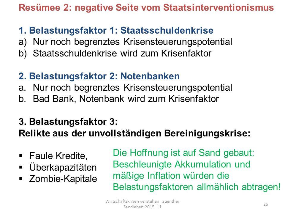 Wirtschaftskrisen verstehen Guenther Sandleben 2015_11 26 Resümee 2: negative Seite vom Staatsinterventionismus 1.