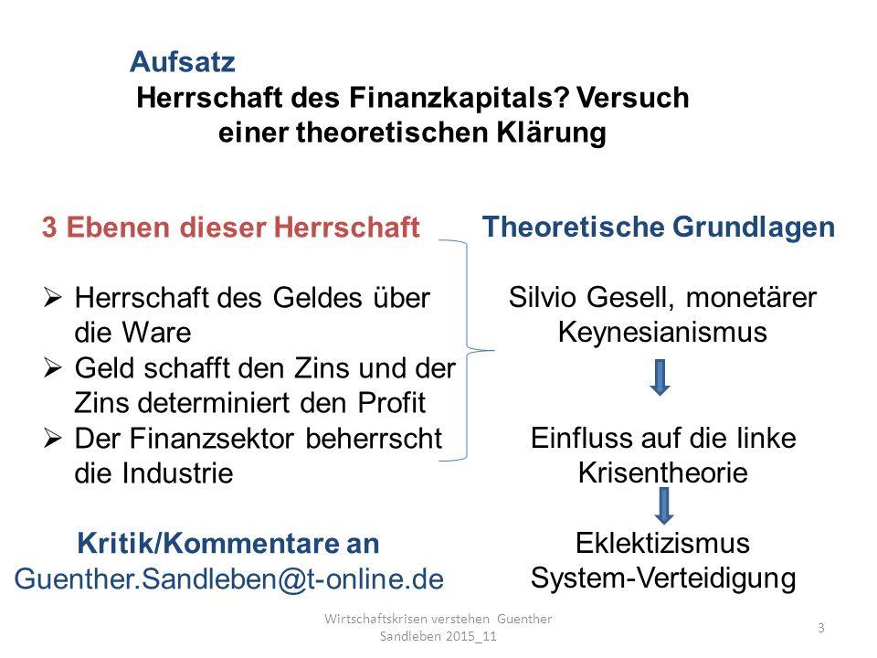 Wirtschaftskrisen verstehen Guenther Sandleben 2015_11 3 Aufsatz Herrschaft des Finanzkapitals.