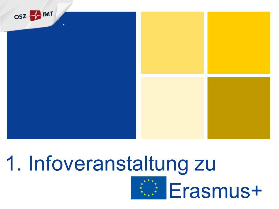 1. Infoveranstaltung zu Erasmus+