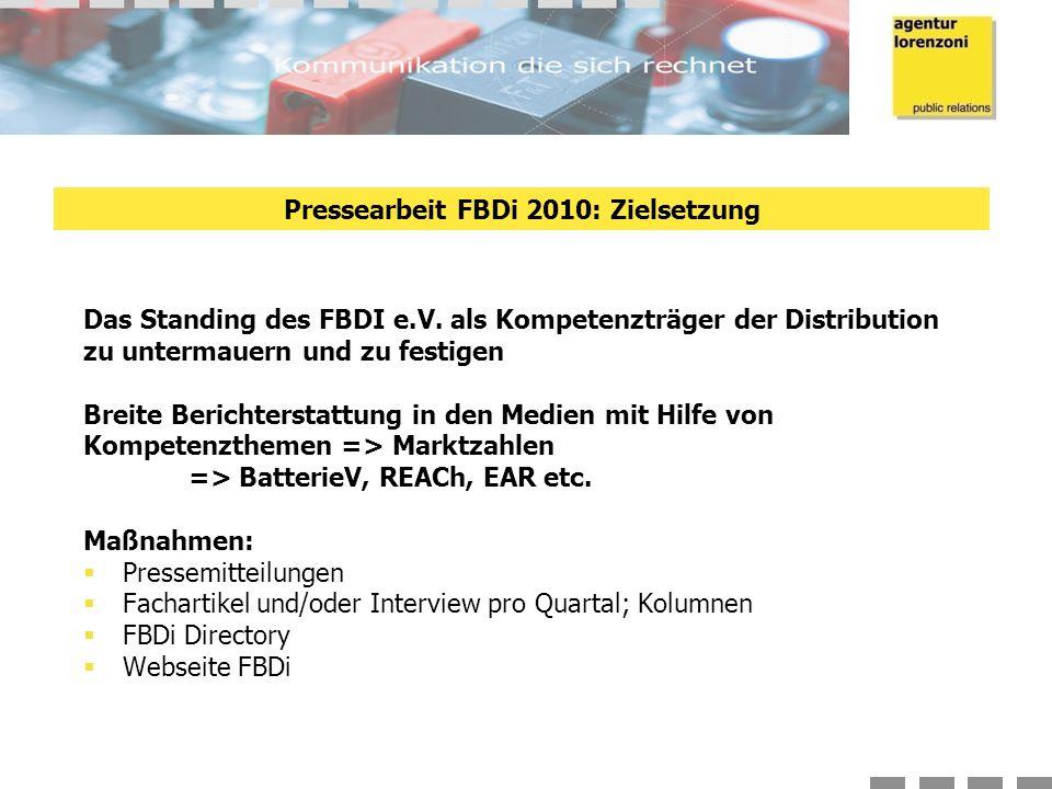 Das Standing des FBDI e.V.