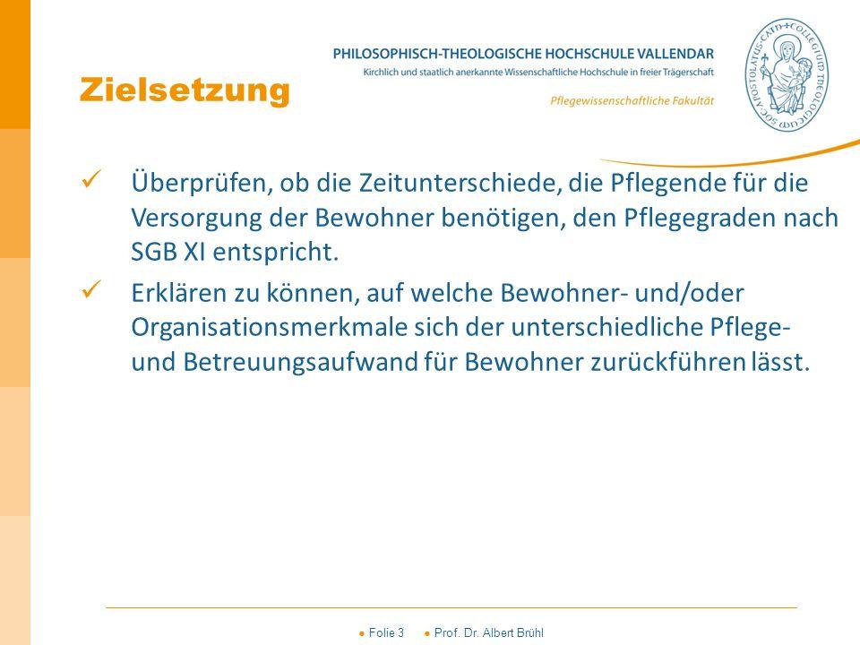 ● Folie 4 ● Prof.Dr. Albert Brühl Betriebsaufwand Bewohnermerkmale z.