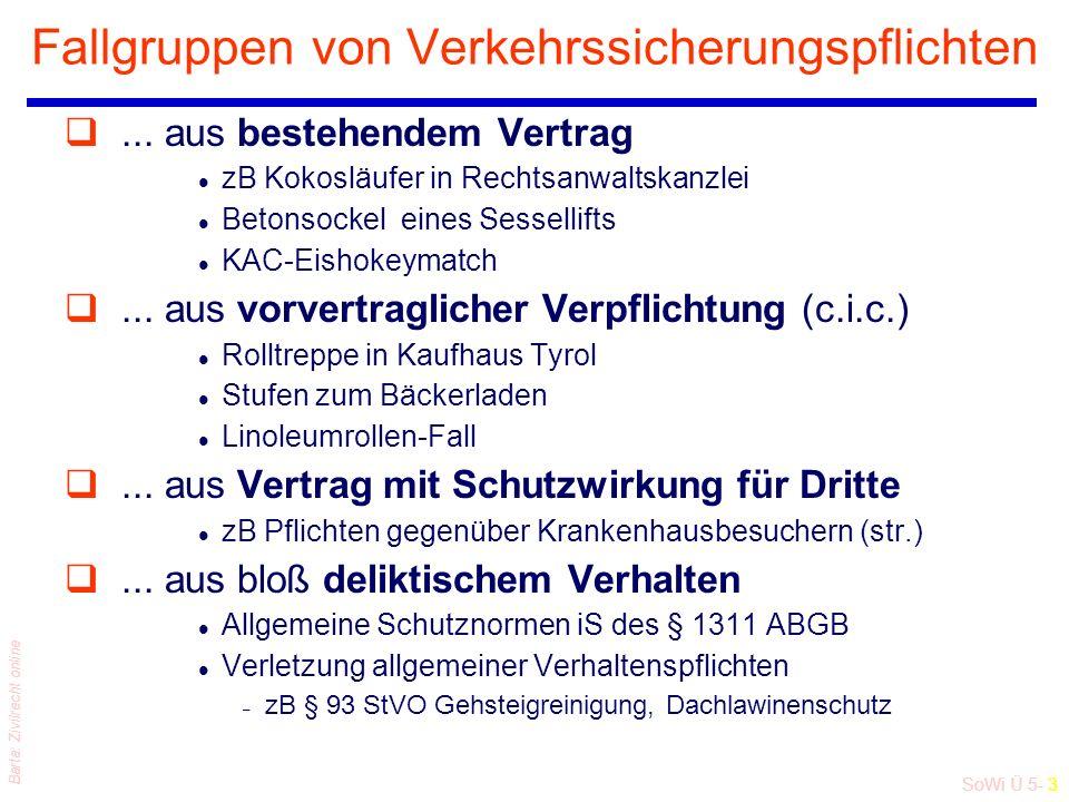 SoWi Ü 5- 3 Barta: Zivilrecht online Fallgruppen von Verkehrssicherungspflichten q...