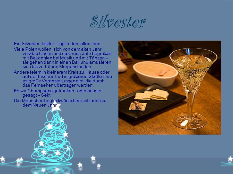 Silvester Ein Silvester -letzter Tag in dem alten Jahr.