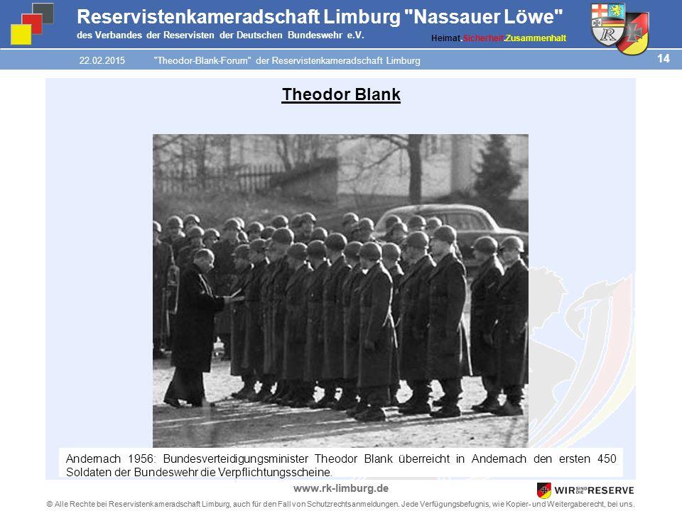 14 © Alle Rechte bei Reservistenkameradschaft Limburg, auch für den Fall von Schutzrechtsanmeldungen.