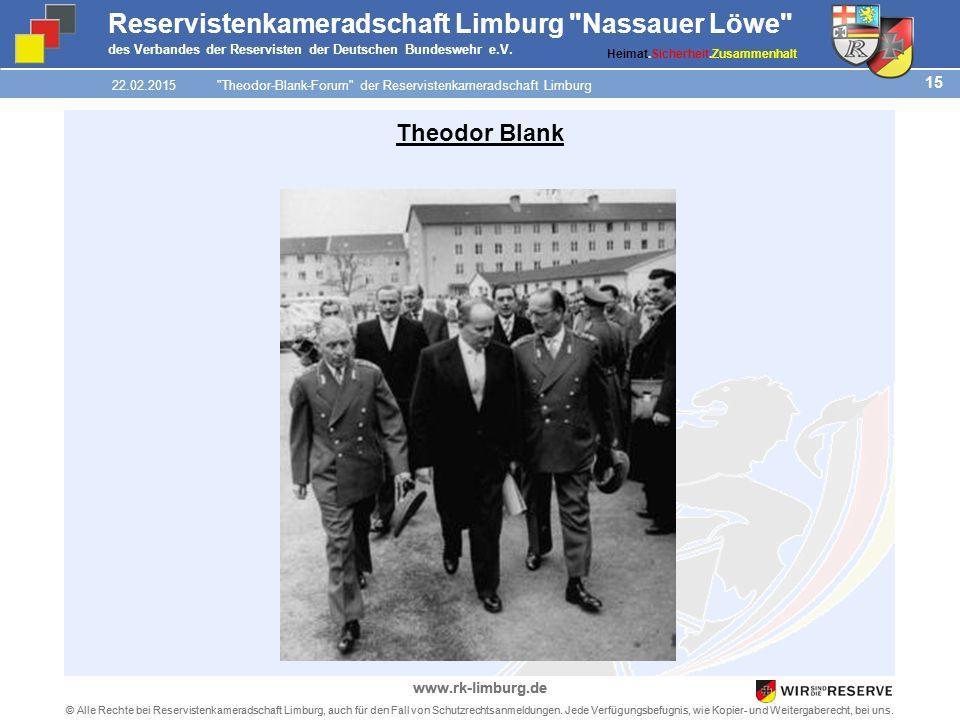 15 © Alle Rechte bei Reservistenkameradschaft Limburg, auch für den Fall von Schutzrechtsanmeldungen.