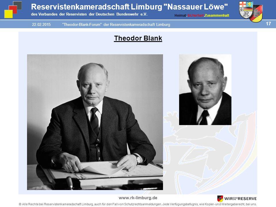 17 © Alle Rechte bei Reservistenkameradschaft Limburg, auch für den Fall von Schutzrechtsanmeldungen.