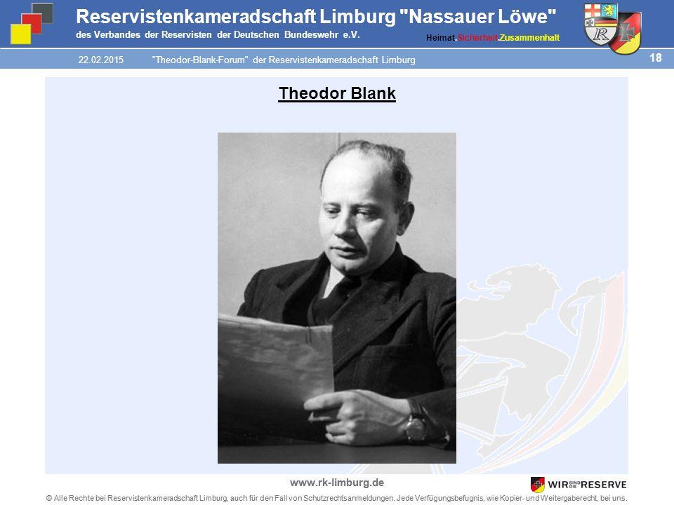 18 © Alle Rechte bei Reservistenkameradschaft Limburg, auch für den Fall von Schutzrechtsanmeldungen.