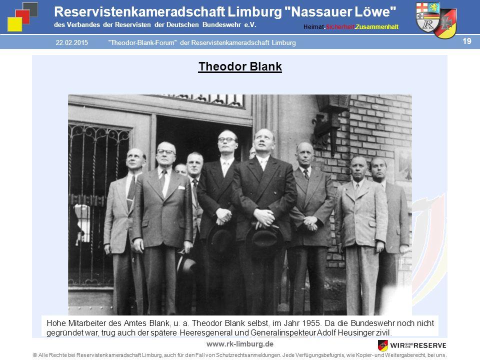 19 © Alle Rechte bei Reservistenkameradschaft Limburg, auch für den Fall von Schutzrechtsanmeldungen.