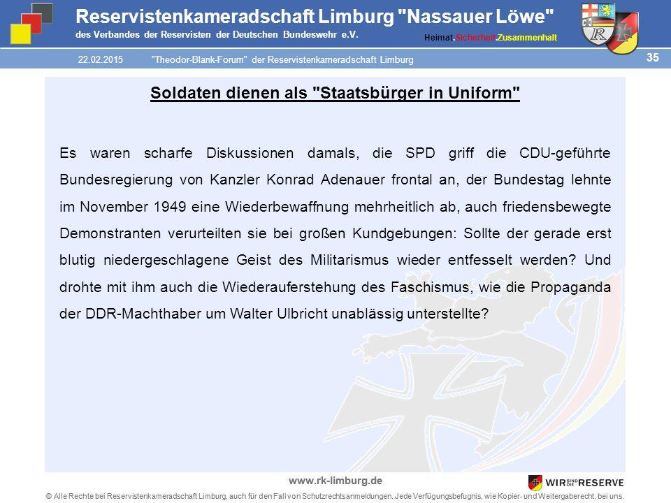 35 © Alle Rechte bei Reservistenkameradschaft Limburg, auch für den Fall von Schutzrechtsanmeldungen.