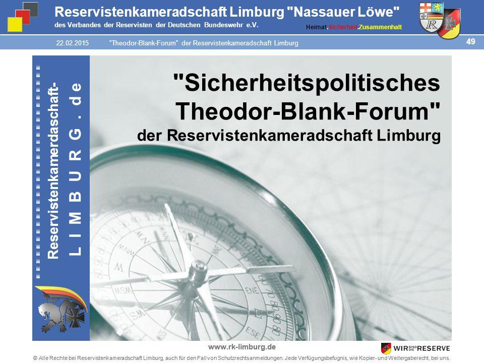 49 © Alle Rechte bei Reservistenkameradschaft Limburg, auch für den Fall von Schutzrechtsanmeldungen.