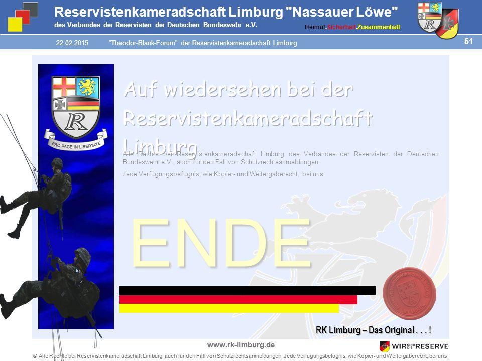 51 © Alle Rechte bei Reservistenkameradschaft Limburg, auch für den Fall von Schutzrechtsanmeldungen.