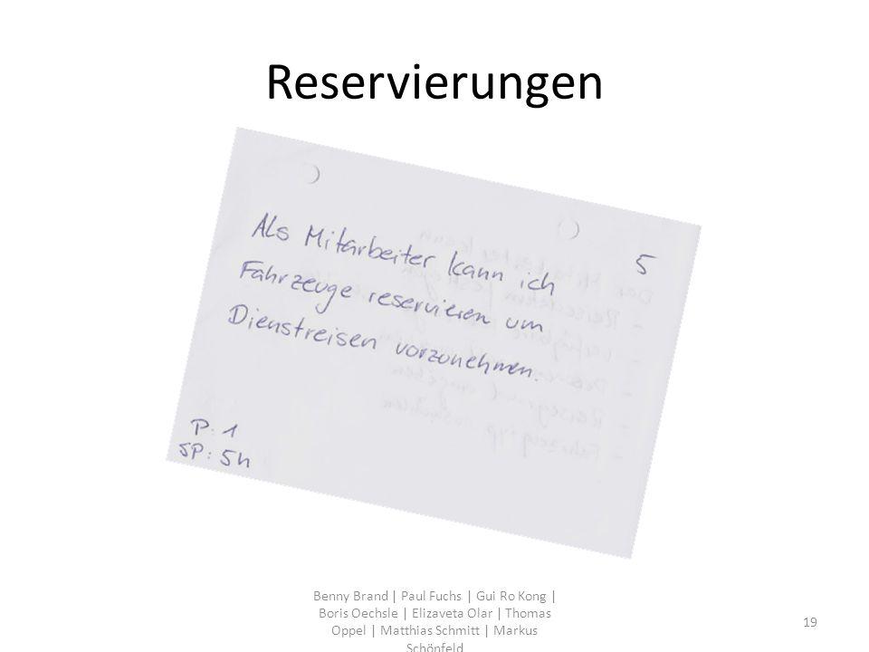 Reservierungen Benny Brand | Paul Fuchs | Gui Ro Kong | Boris Oechsle | Elizaveta Olar | Thomas Oppel | Matthias Schmitt | Markus Schönfeld 19