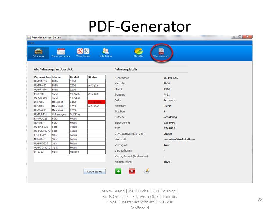 PDF-Generator Benny Brand | Paul Fuchs | Gui Ro Kong | Boris Oechsle | Elizaveta Olar | Thomas Oppel | Matthias Schmitt | Markus Schönfeld 28