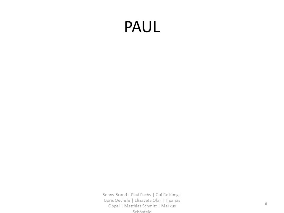 Statistiken Benny Brand | Paul Fuchs | Gui Ro Kong | Boris Oechsle | Elizaveta Olar | Thomas Oppel | Matthias Schmitt | Markus Schönfeld 29