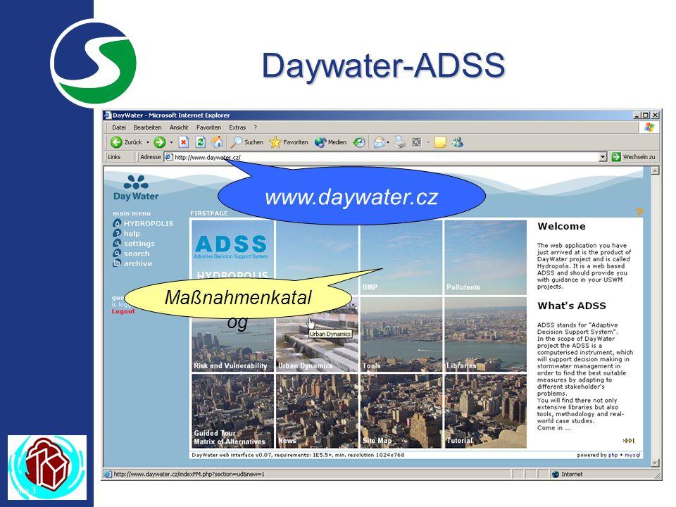 Folie 3 Daywater-ADSS www.daywater.cz Maßnahmenkatal og