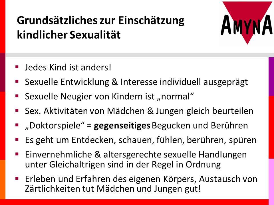 Grundsätzliches zur Einschätzung kindlicher Sexualität  Jedes Kind ist anders.