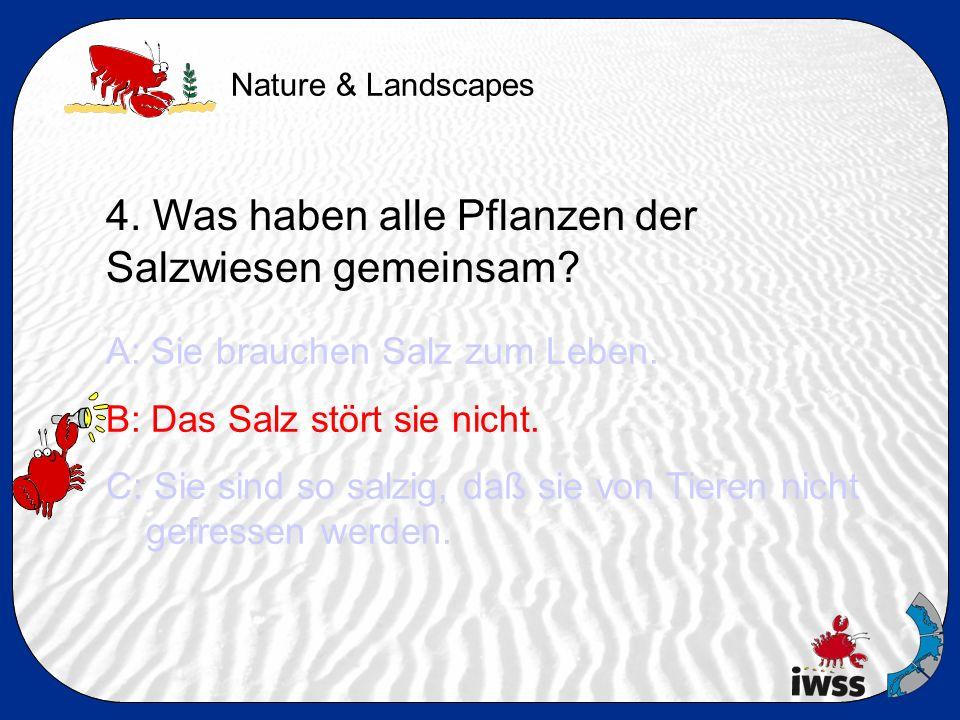 Nature & Landscapes 4. Was haben alle Pflanzen der Salzwiesen gemeinsam.