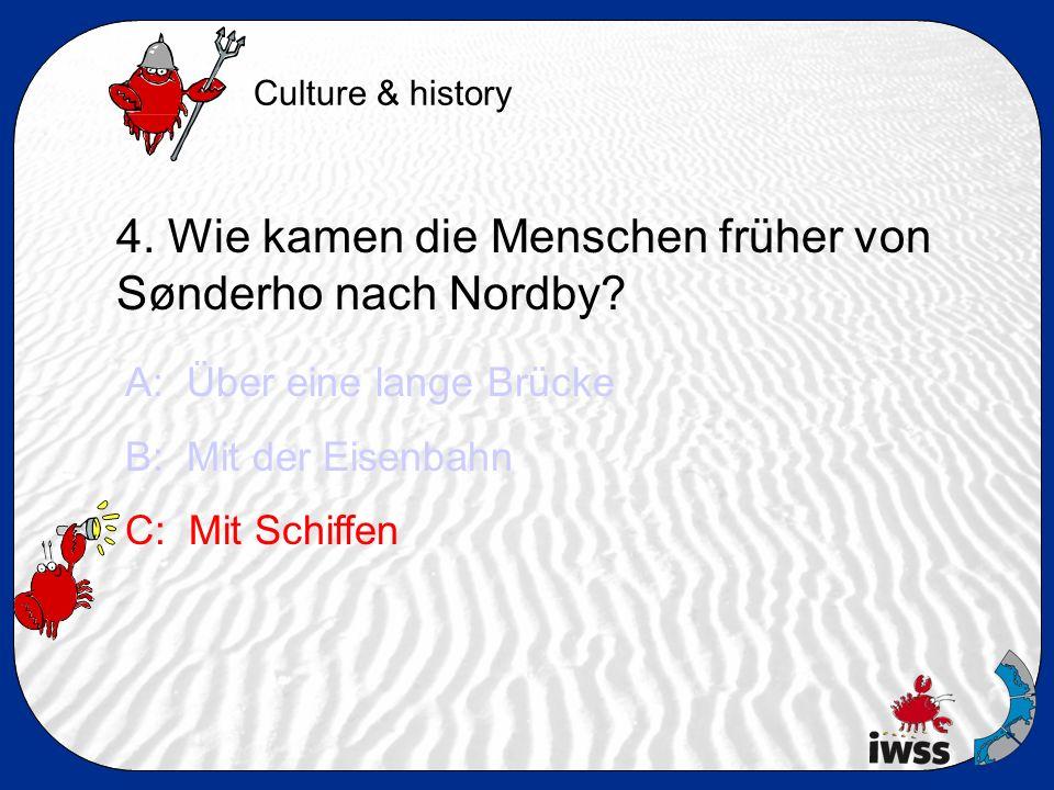 4. Wie kamen die Menschen früher von Sønderho nach Nordby.
