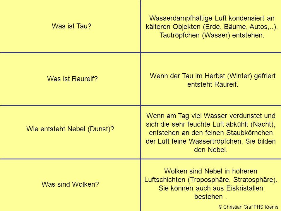 © Christian Graf PHS Krems Was ist Tau.
