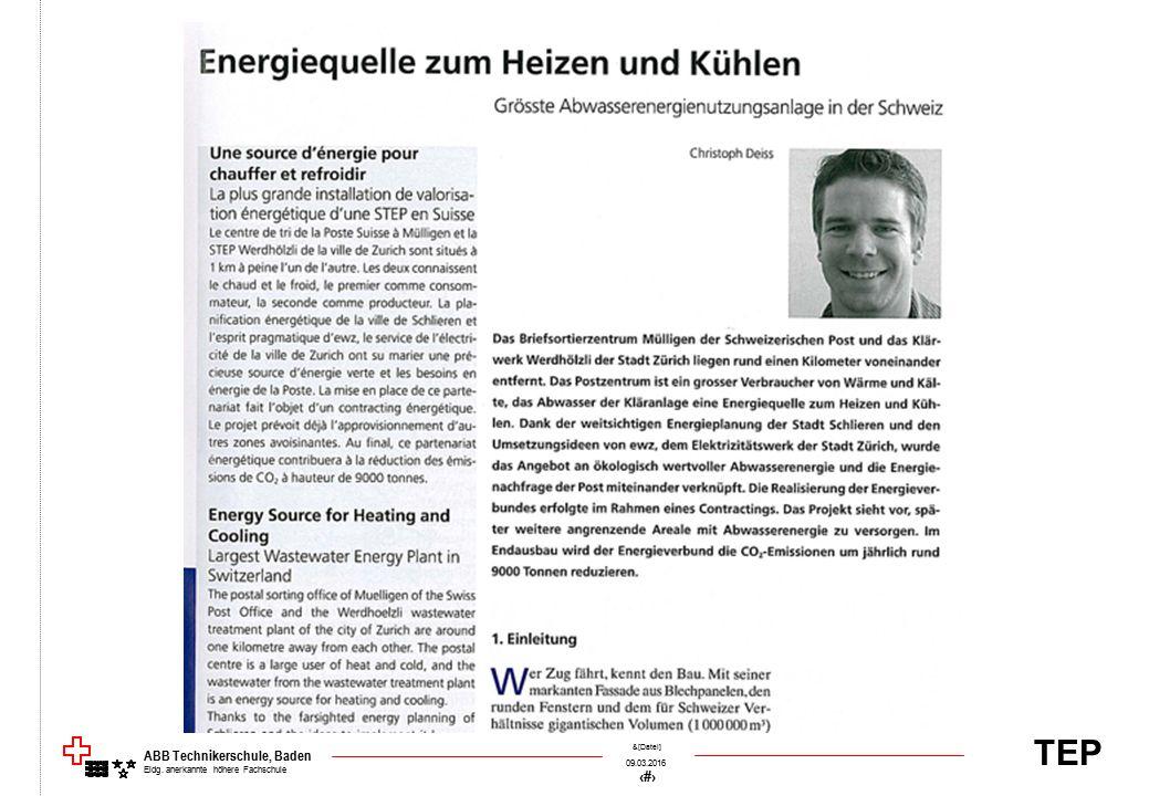 TEP 09.03.2016 23 &[Datei] ABB Technikerschule, Baden Eidg. anerkannte höhere Fachschule