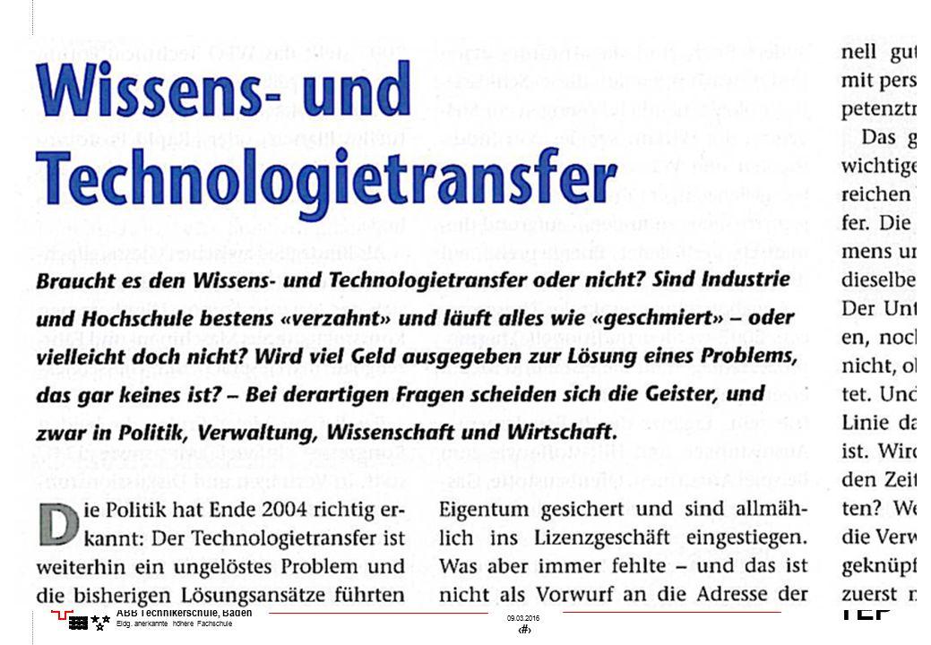 TEP 09.03.2016 25 &[Datei] ABB Technikerschule, Baden Eidg. anerkannte höhere Fachschule