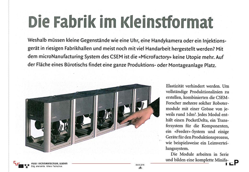 TEP 09.03.2016 31 &[Datei] ABB Technikerschule, Baden Eidg. anerkannte höhere Fachschule