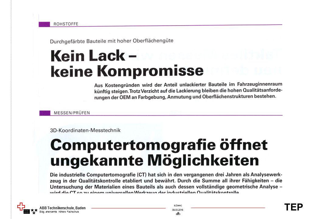 TEP 09.03.2016 42 &[Datei] ABB Technikerschule, Baden Eidg. anerkannte höhere Fachschule
