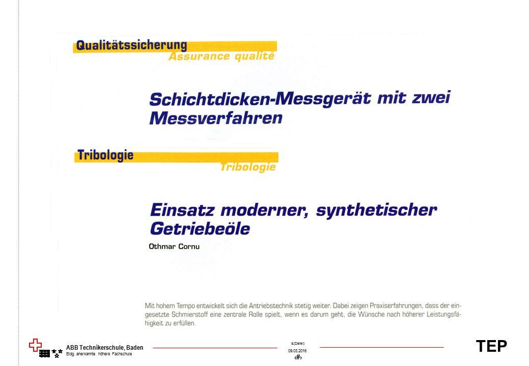 TEP 09.03.2016 46 &[Datei] ABB Technikerschule, Baden Eidg. anerkannte höhere Fachschule