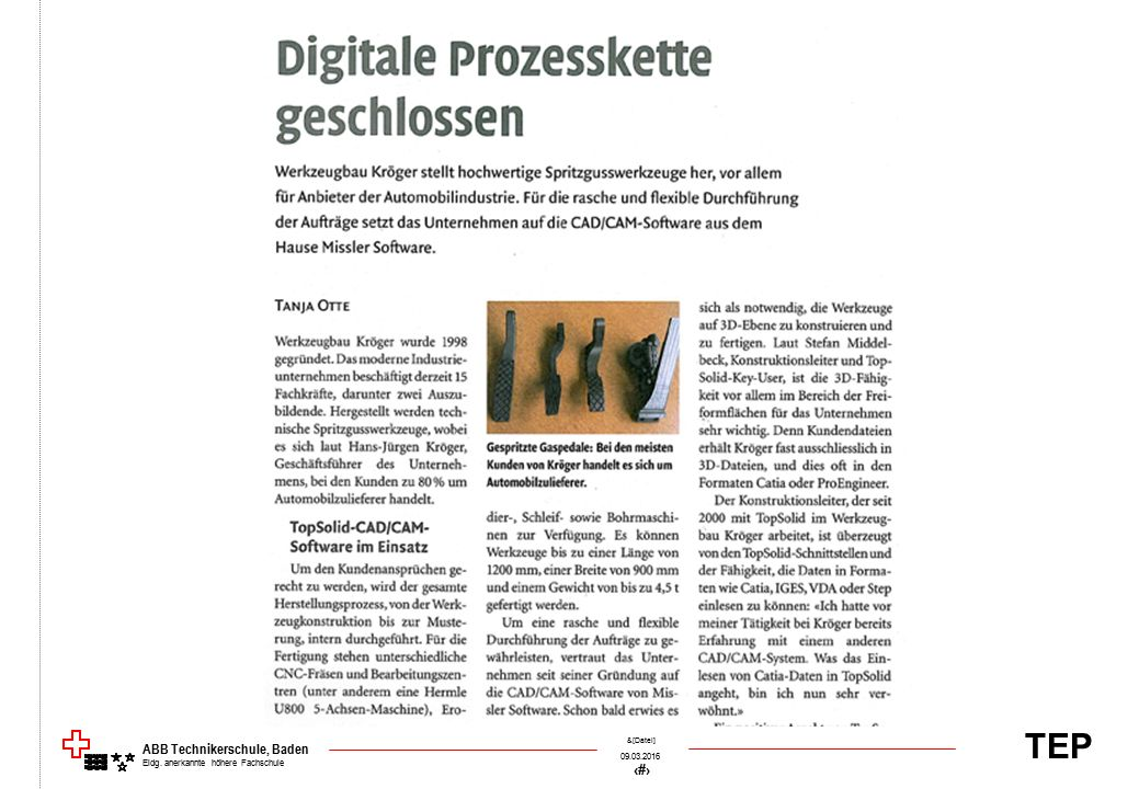TEP 09.03.2016 5 &[Datei] ABB Technikerschule, Baden Eidg. anerkannte höhere Fachschule