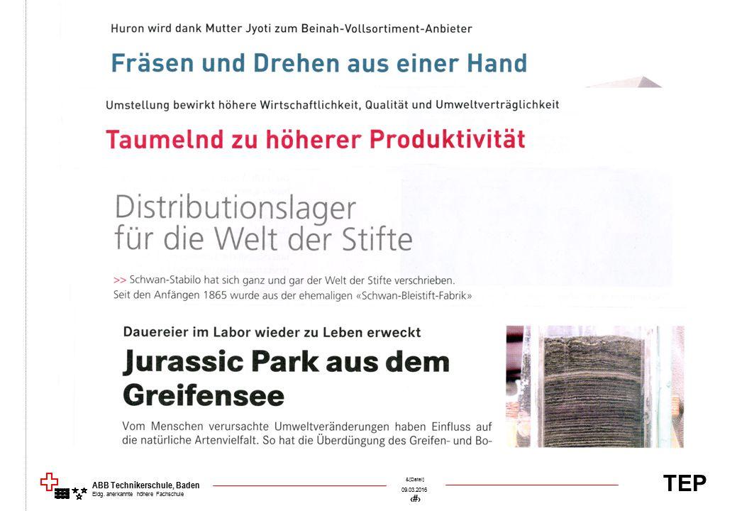 TEP 09.03.2016 54 &[Datei] ABB Technikerschule, Baden Eidg. anerkannte höhere Fachschule