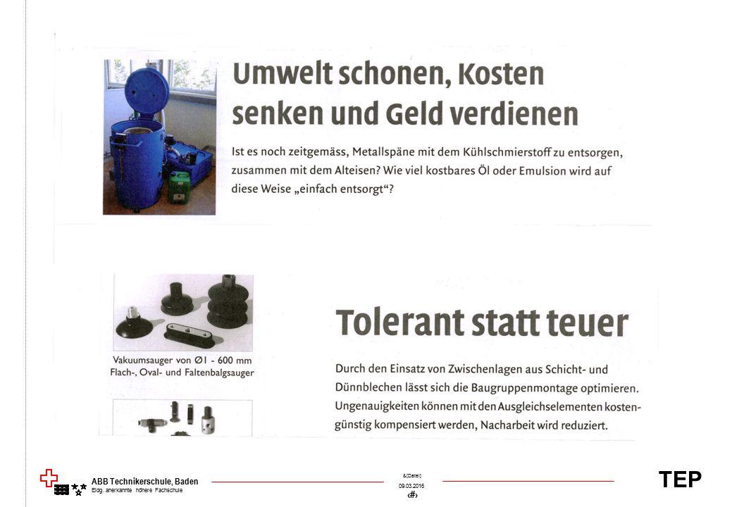 TEP 09.03.2016 56 &[Datei] ABB Technikerschule, Baden Eidg. anerkannte höhere Fachschule