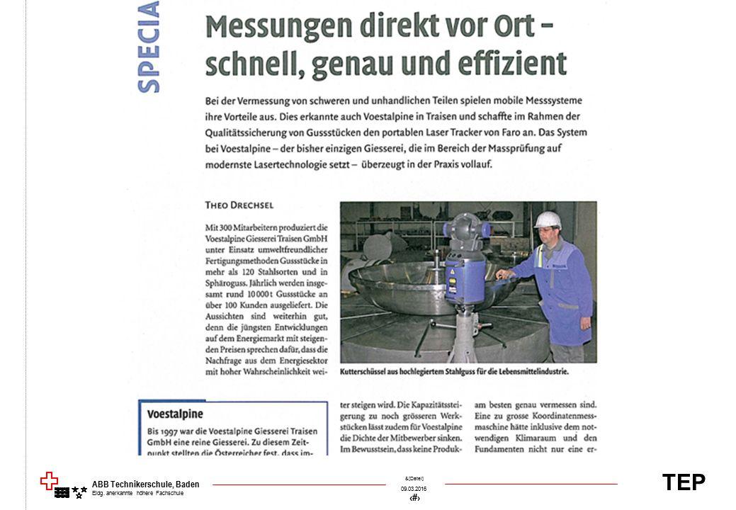 TEP 09.03.2016 6 &[Datei] ABB Technikerschule, Baden Eidg. anerkannte höhere Fachschule