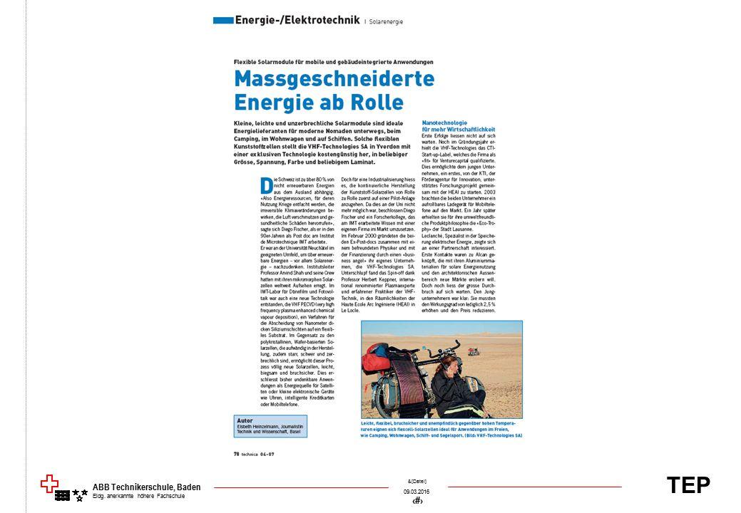 TEP 09.03.2016 68 &[Datei] ABB Technikerschule, Baden Eidg. anerkannte höhere Fachschule