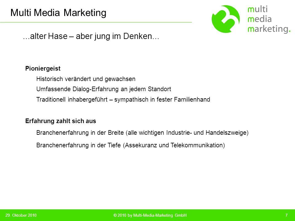 Multi Media Marketing © 2010 by Multi-Media-Marketing GmbH...messbare Sicherheiten – ohne Risiko...