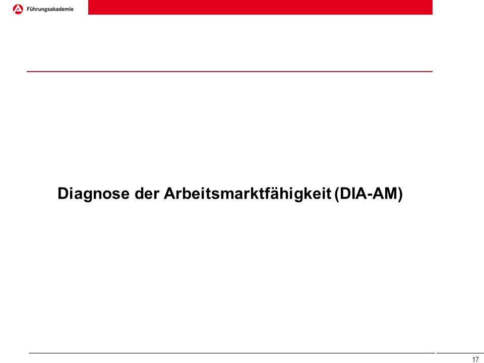 Diagnose der Arbeitsmarktfähigkeit (DIA-AM) 17