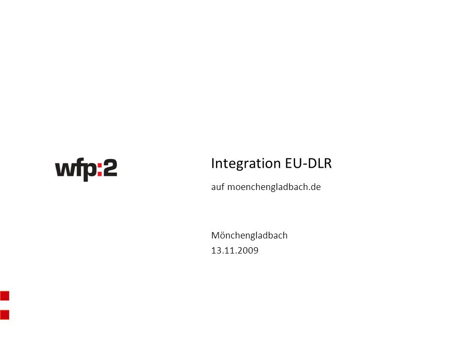 Mönchengladbach 13.11.2009 Integration EU-DLR auf moenchengladbach.de