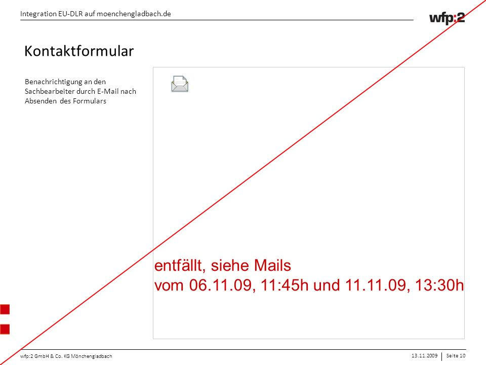 13.11.2009Seite 10 wfp:2 GmbH & Co.