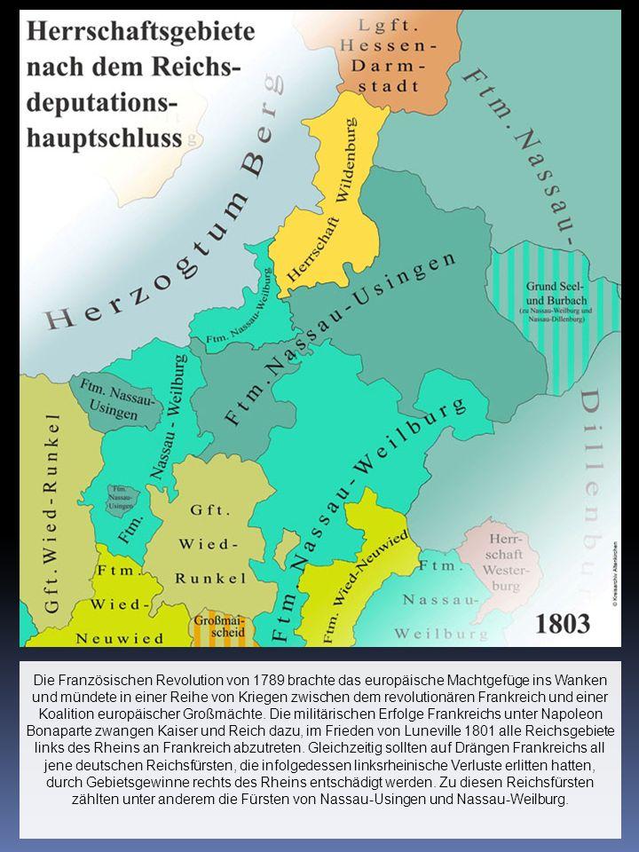 Die Französischen Revolution von 1789 brachte das europäische Machtgefüge ins Wanken und mündete in einer Reihe von Kriegen zwischen dem revolutionäre
