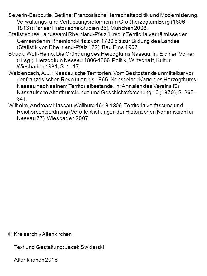 Severin-Barboutie, Bettina: Französische Herrschaftspolitik und Modernisierung. Verwaltungs- und Verfassungsreformen im Großherzogtum Berg (1806- 1813