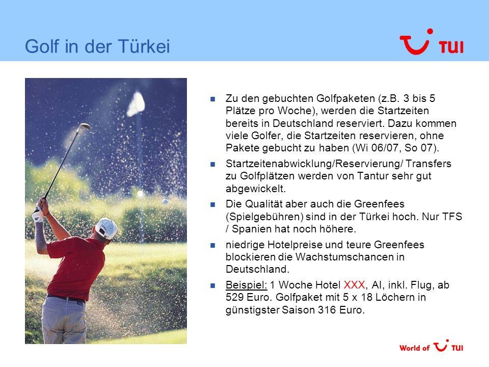 Die Türkei erreicht im Winter bei TUI unterdurchschnittlich die ältere Zielgruppe Tunesien Balearen Marokko Italien Flug TUI Profil 60 + Quelle: Gästebefragung span.