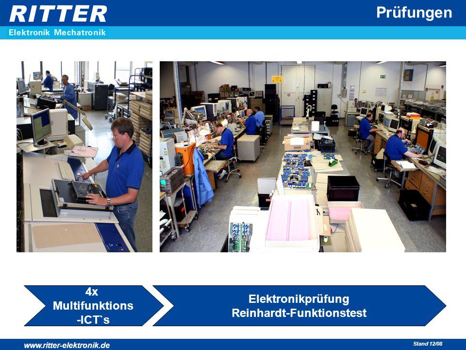 www.ritter-elektronik.de Stand 12/08 Prüfungen 4x Multifunktions -ICT`s Elektronikprüfung Reinhardt-Funktionstest