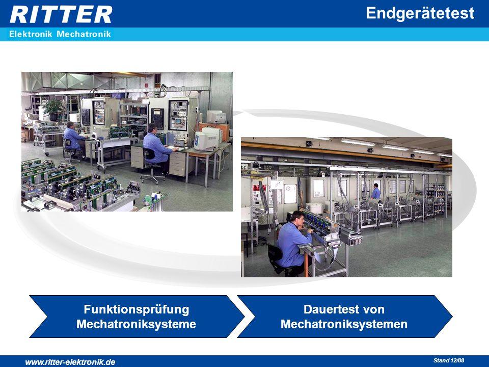 www.ritter-elektronik.de Stand 12/08 Endgerätetest Funktionsprüfung Mechatroniksysteme Dauertest von Mechatroniksystemen