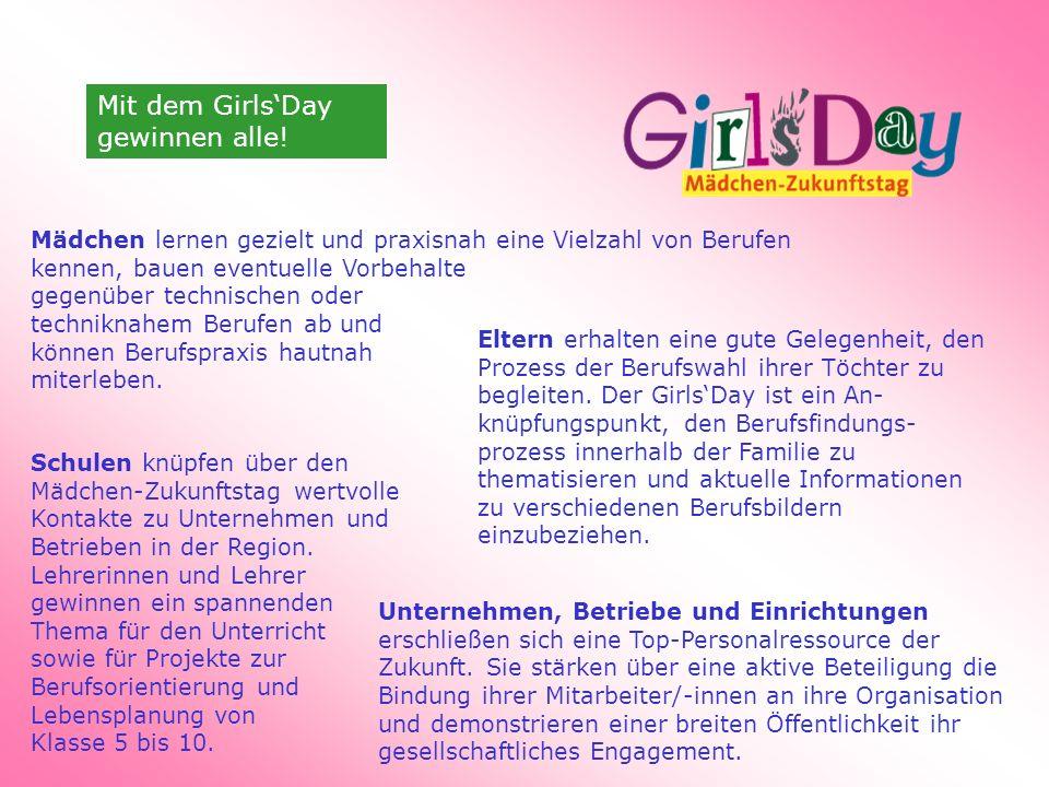 Mit dem Girls'Day gewinnen alle.