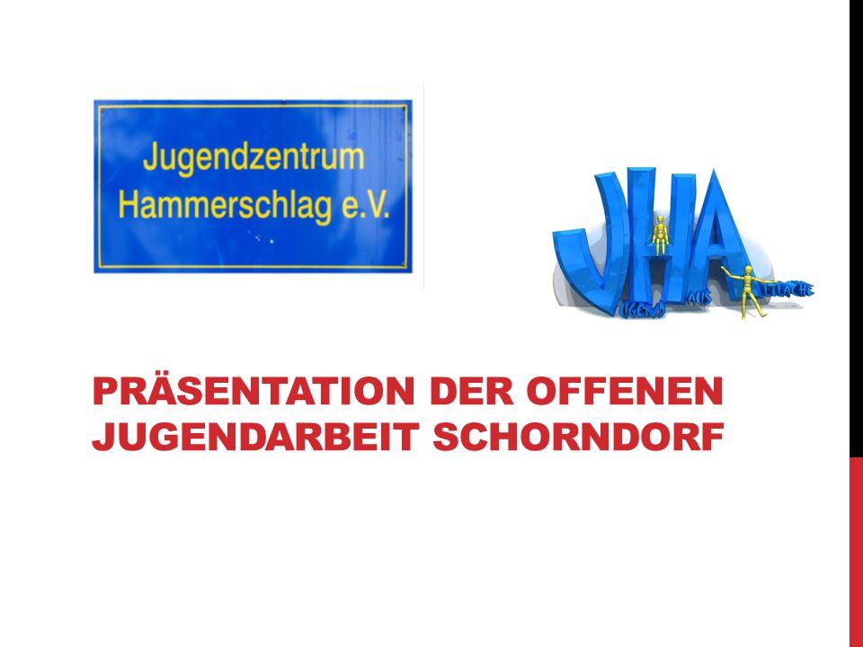 PRÄSENTATION DER OFFENEN JUGENDARBEIT SCHORNDORF