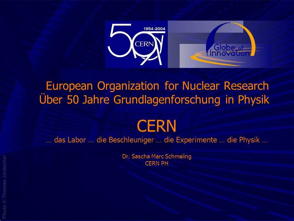 CERN … das Labor … die Beschleuniger … die Experimente … die Physik … Dr. Sascha Marc Schmeling CERN PH European Organization for Nuclear Research Übe