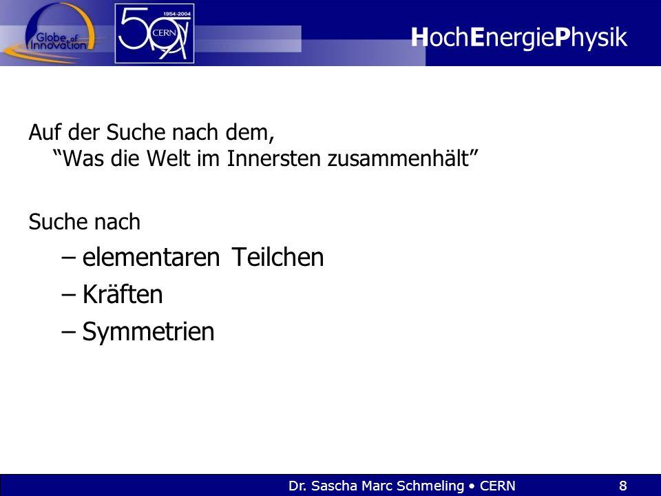 Dr. Sascha Marc Schmeling CERN9