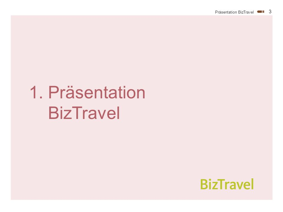 3 Präsentation BizTravel 1. Präsentation BizTravel