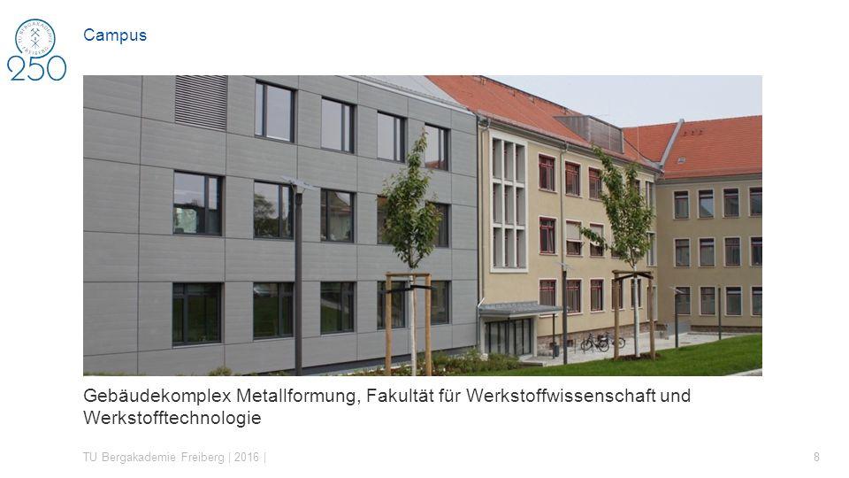 Gebäudekomplex Metallformung, Fakultät für Werkstoffwissenschaft und Werkstofftechnologie TU Bergakademie Freiberg | 2016 | 8 Campus