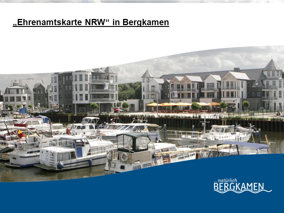 """Ehrenamtskarte NRW in Bergkamen"